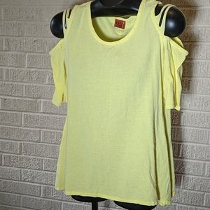 Oh My Gauze yellow top size S/M